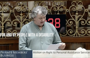 Thomas Pringle TD - Right to Personal Assistance Services - Rights For And By People With A Disability