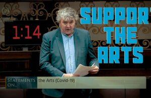 Thomas Pringle TD - We Need To Support The Arts