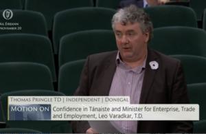 Thomas Pringle TD - Supports Motion Of No Confidence In The Tánaiste Leo Varadkar
