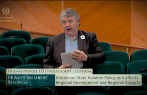 Pringle calls for more support for Donegal and other regional airports