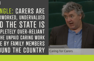 Pringle: Carers should be considered frontline healthcare workers