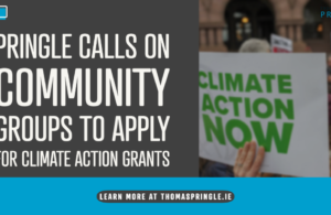 Pringle calls on community groups to apply for climate action grants