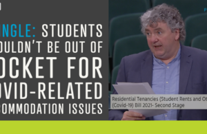 Pringle: Students shouldn't be out of pocket for Covid-related accommodation issues