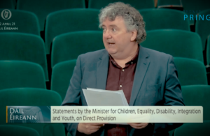Pringle says Department of Justice plays a key role in ending direct provision
