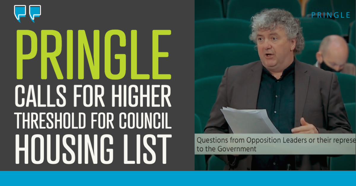 Pringle calls for higher threshold for council housing list