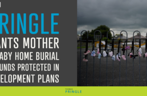 Pringle wants mother and baby home burial grounds protected in development plans