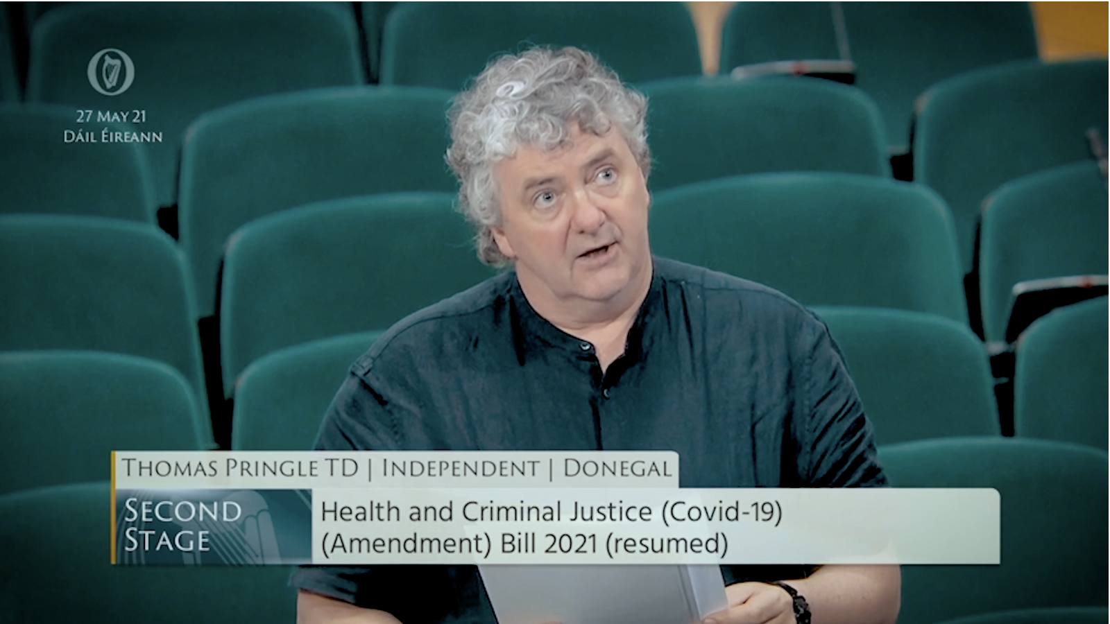 Thomas Pringle opposes indefinite extended Covid powers