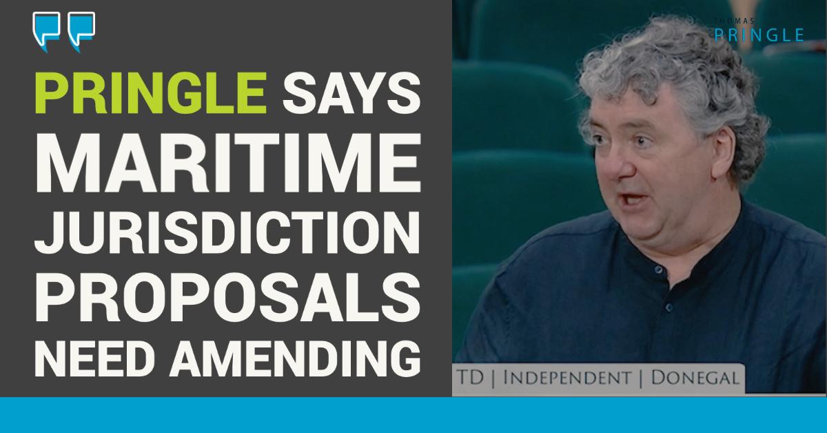Pringle says maritime jurisdiction proposals need amending